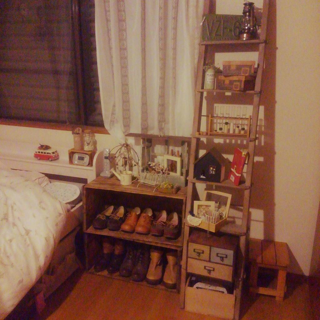 木製 はしご 脚立 ラダー 寝室