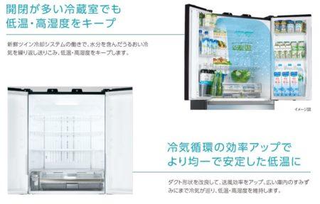東芝の冷蔵室の特徴