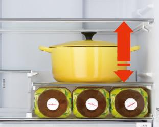 日立の冷蔵庫 高さかわるん棚は便利