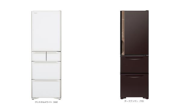 冷蔵庫の前面はガラストップと鋼板