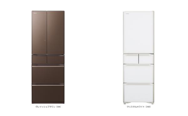 冷蔵庫はフレンチドアと片側ドア