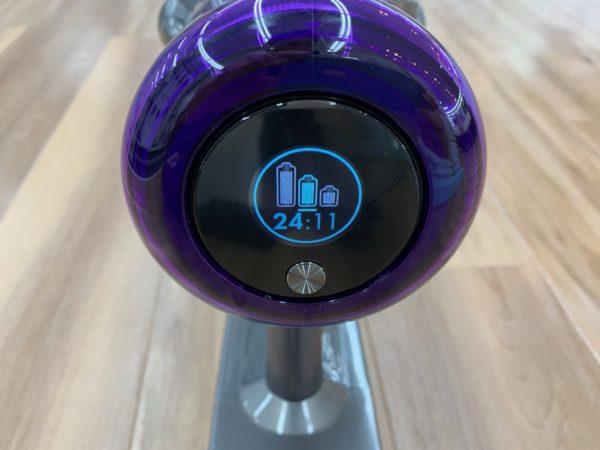 ダイソンV11 バッテリー残量の表示