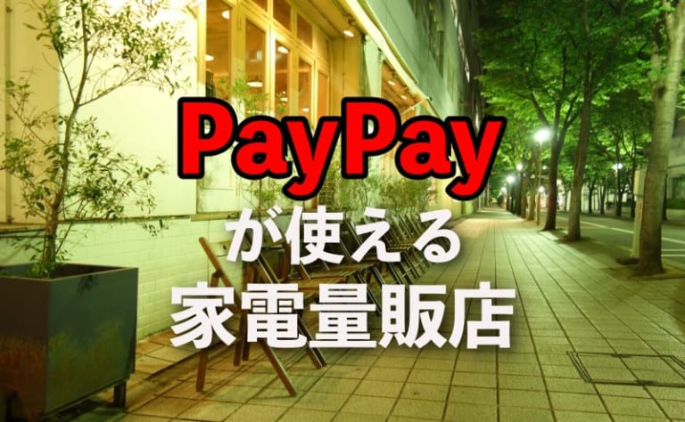 PayPayペイペイが使える家電量販店は?お得なキャンペーンとポイント